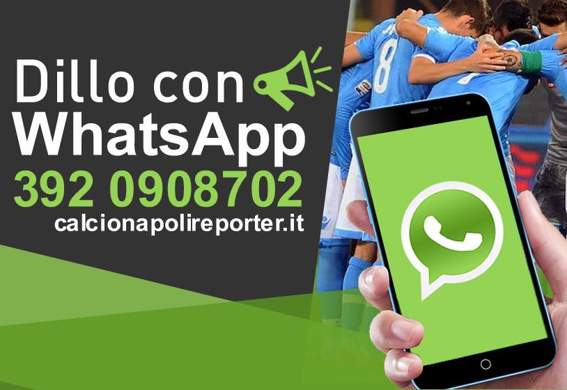 Calcio Napoli Reporter è anche su WhatsApp!!!